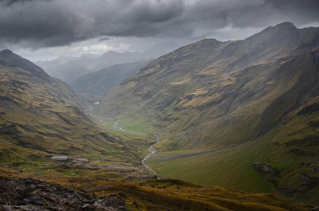 Landscape Nature mountain wilderness lost lands mood clouds SKY rain storm desolate wild pyrenees rockies