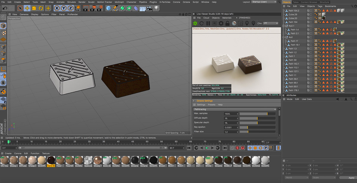 chocolate package foil electric 3dcg product Food  concept octane circuit