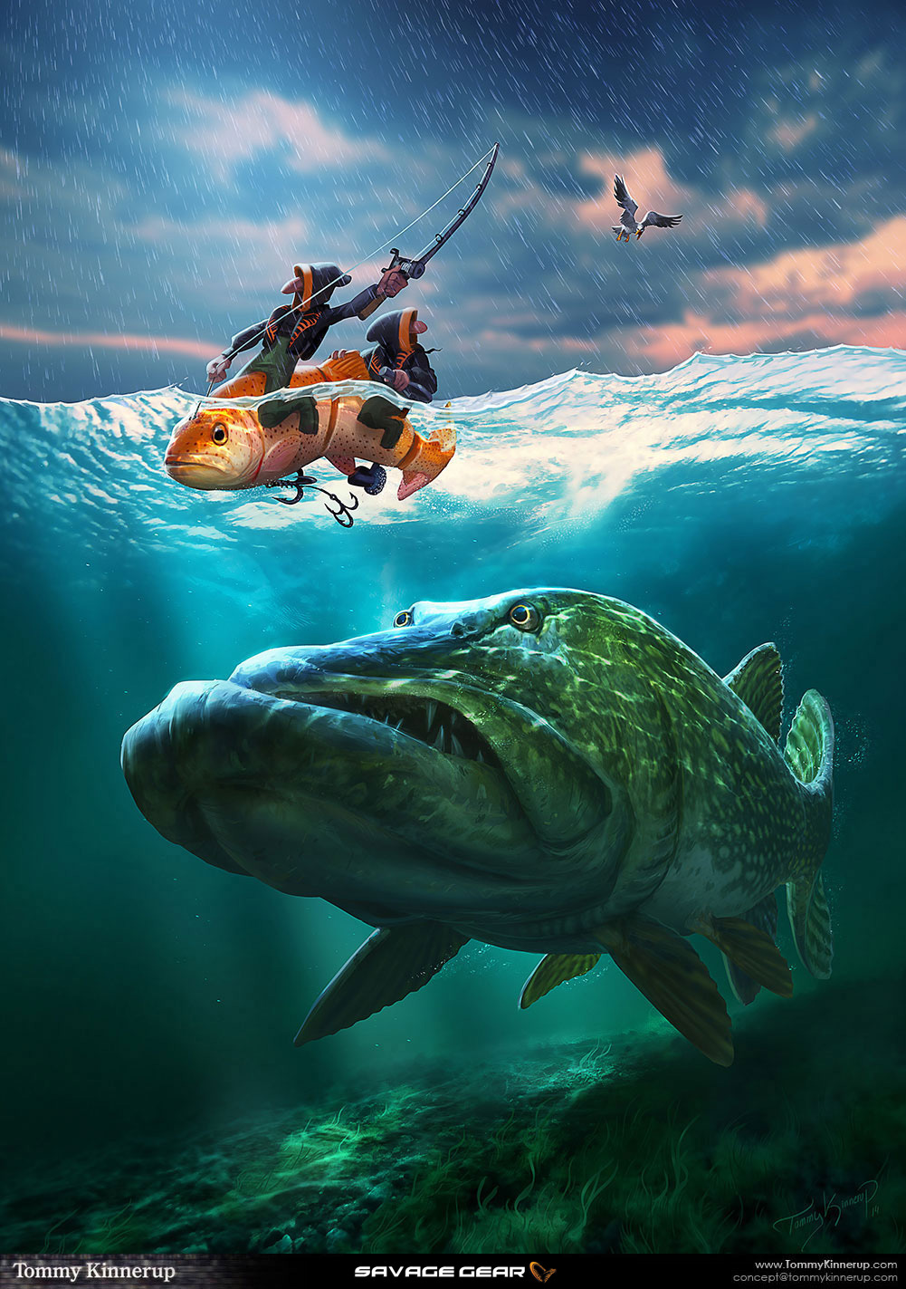 Fish art on behance for Fish scenery drawing