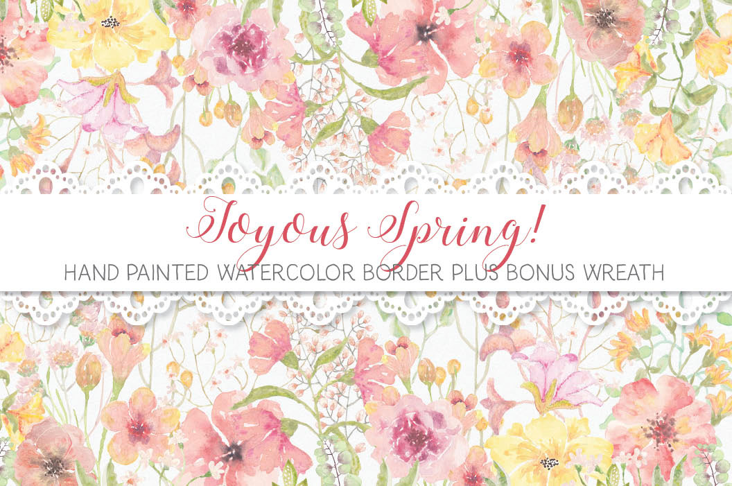 Border Of Pretty Spring Flowers On Behance