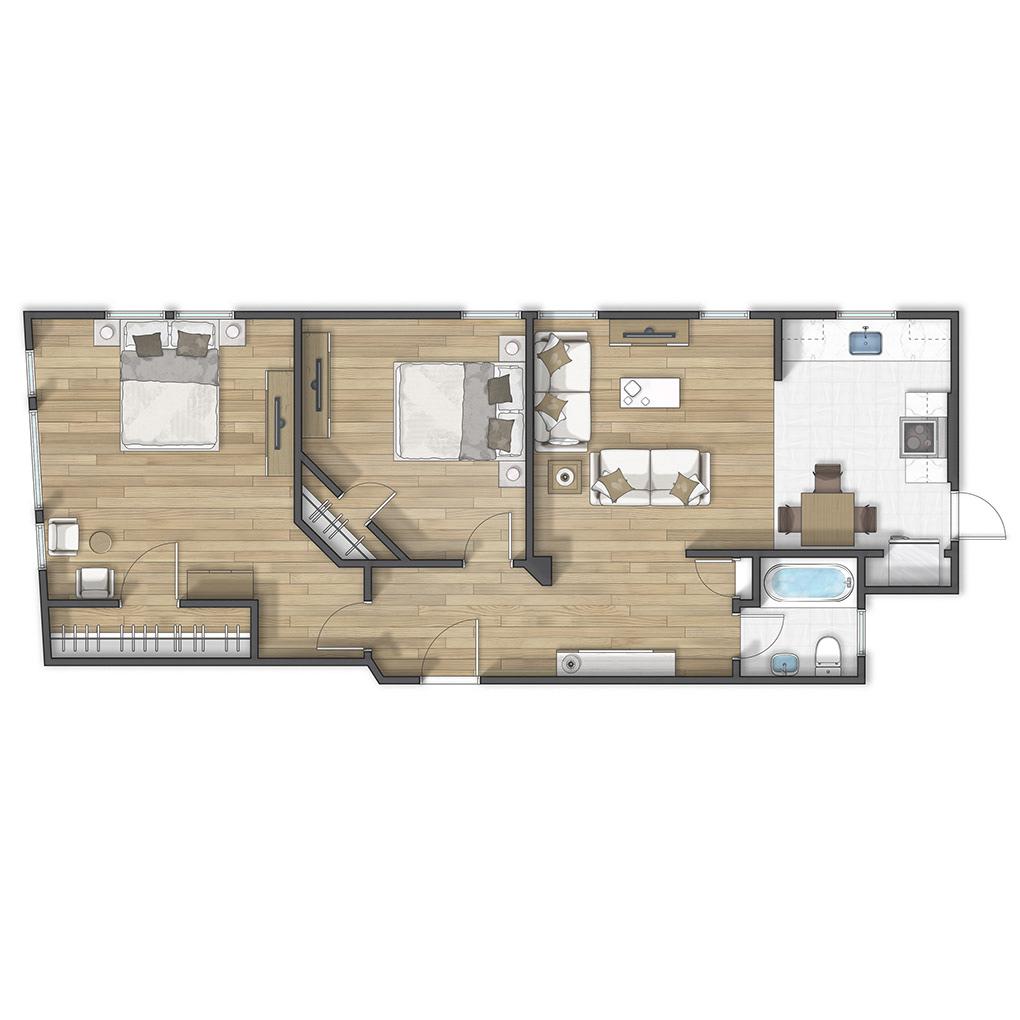 2D floor plan floorplan grundriss Plan plano Planta real estate rendering