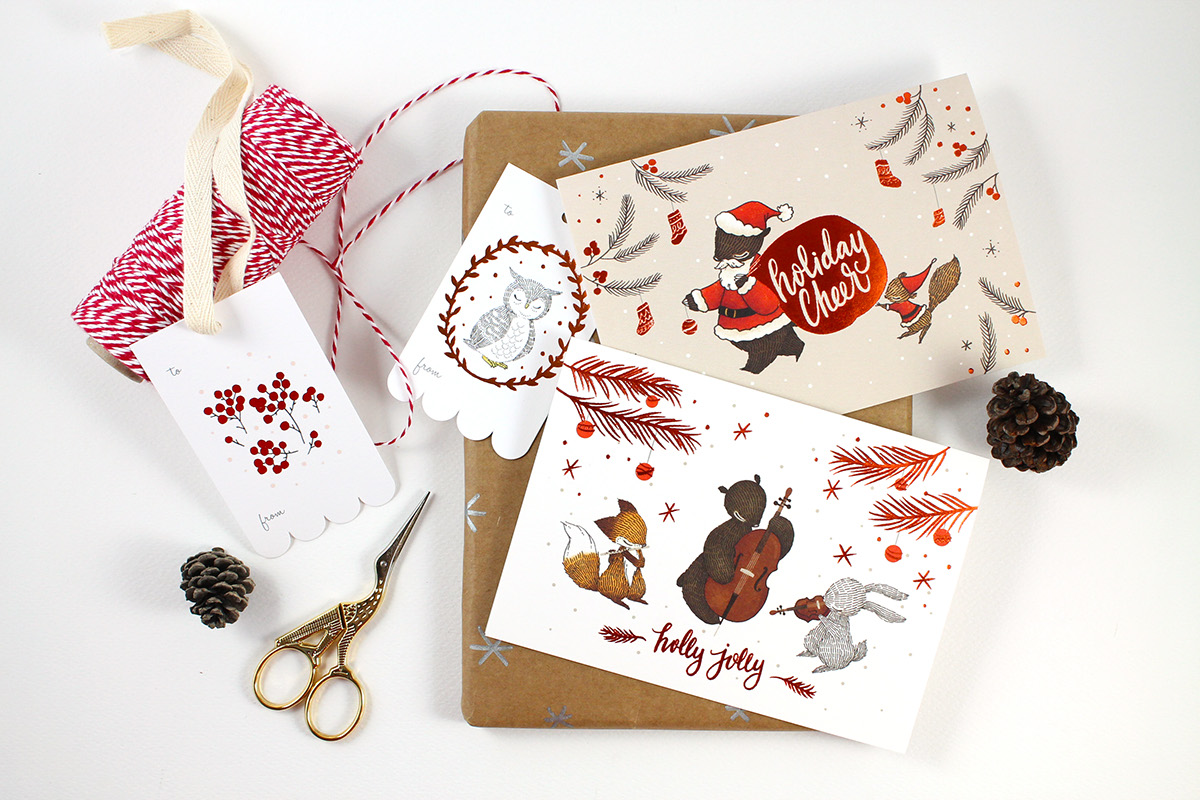 24 loophole Business Christmas Cards Greeting Cards individually Christmas