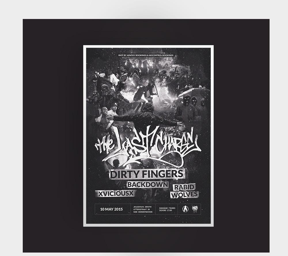 poster graphic design  Hardcore print design ILLUSTRATION  art music concert metal