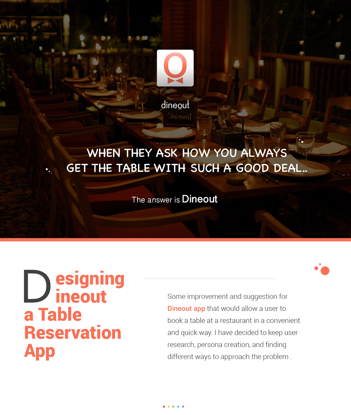 Designing Dineout A Table Reservation App On Wacom Gallery - Table reservation app