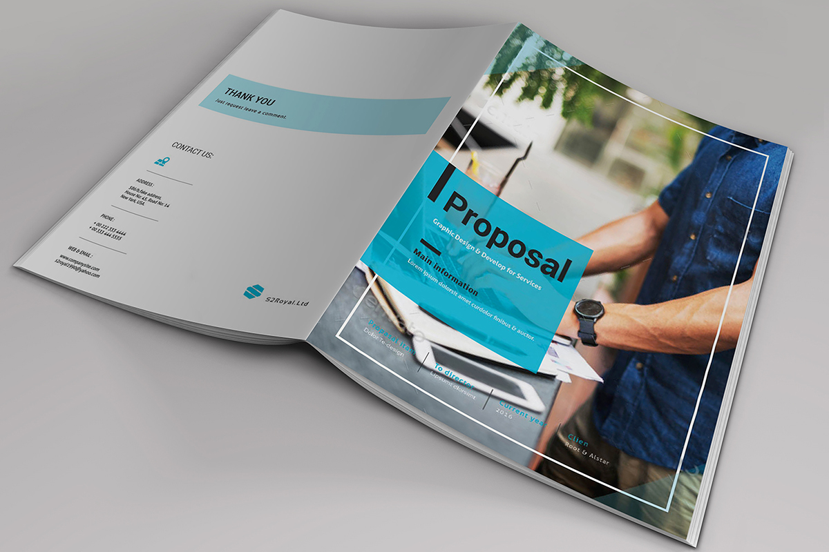Indesign business proposal template on behance cheaphphosting Choice Image
