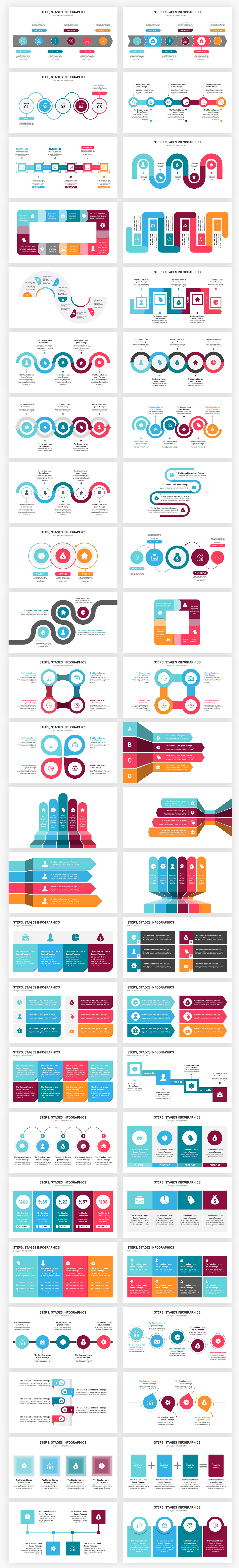 Stages Infographics PowerPoint Template diagrams - 1