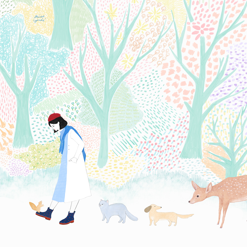 Miss Cyndi portrait Diary woman Lady animal dog Cat life squirrel story