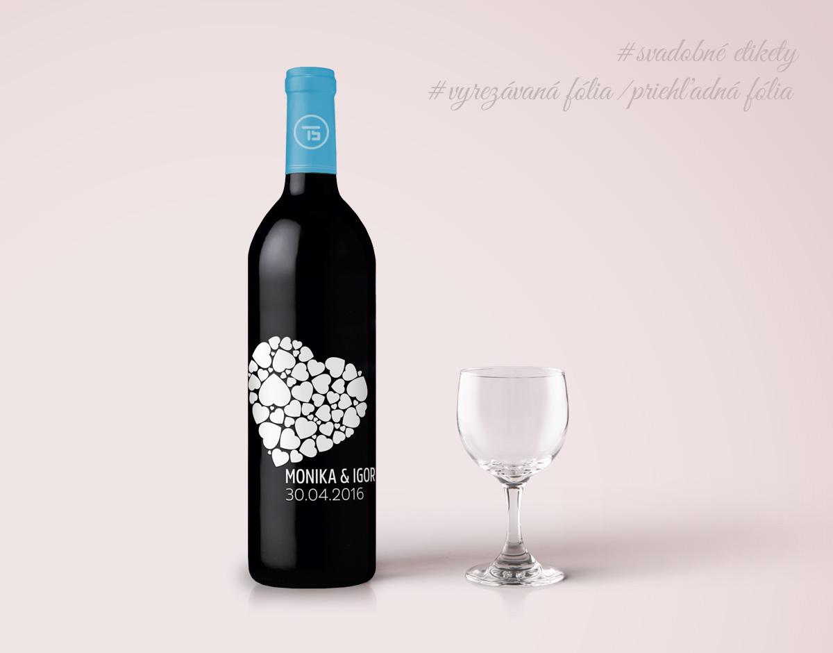 wedding stickers wine