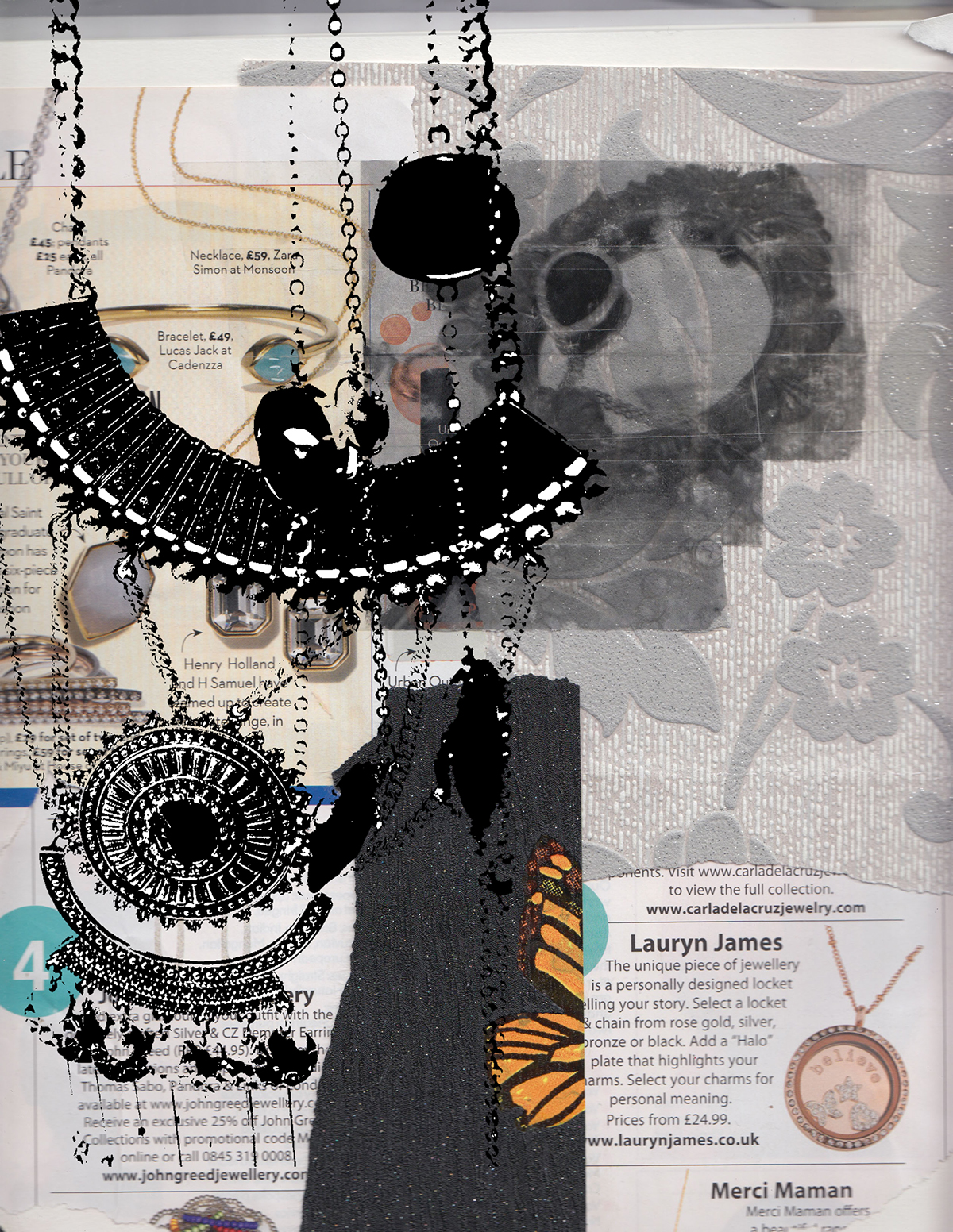 digital stencilling and collage on Behance