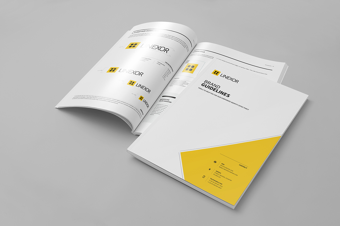 Portrait Brand Manual 32 Pages A4 / US Letter on Behance