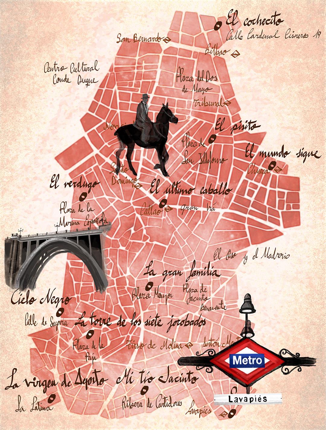 mapa creativo mapas photoshop ilustración editorial publishing   ILLUSTRATION  Creative Maps editorial magazine