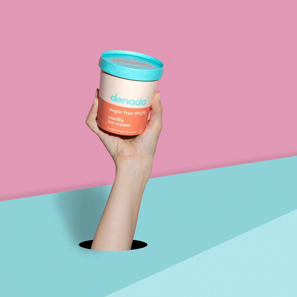 art  direction branding  Denada graphic design  ice cream Ice Cream Packaging Melbourne Packaging packaging design sugar free