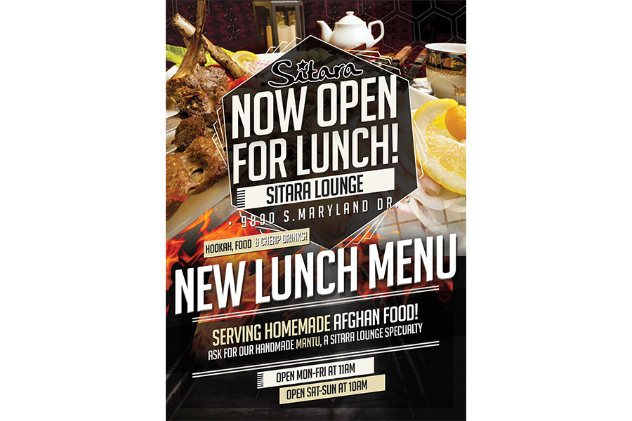now open for lunch flyer on behance