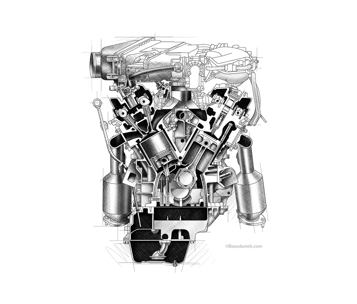 Generic car engines. portfolio 1 on Behance