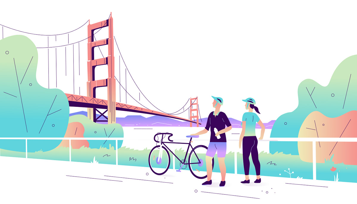 ILLUSTRATION  insurance swiss Switzerland Travel vector Website animation