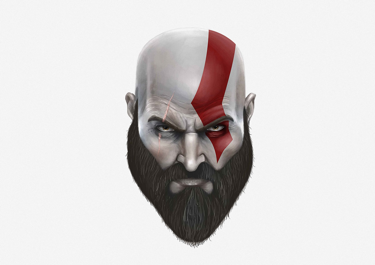 Kratos Sketch On Behance
