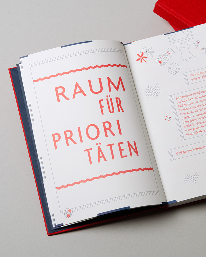 V Plus roof book notebook real estate austria living employees brand awareness