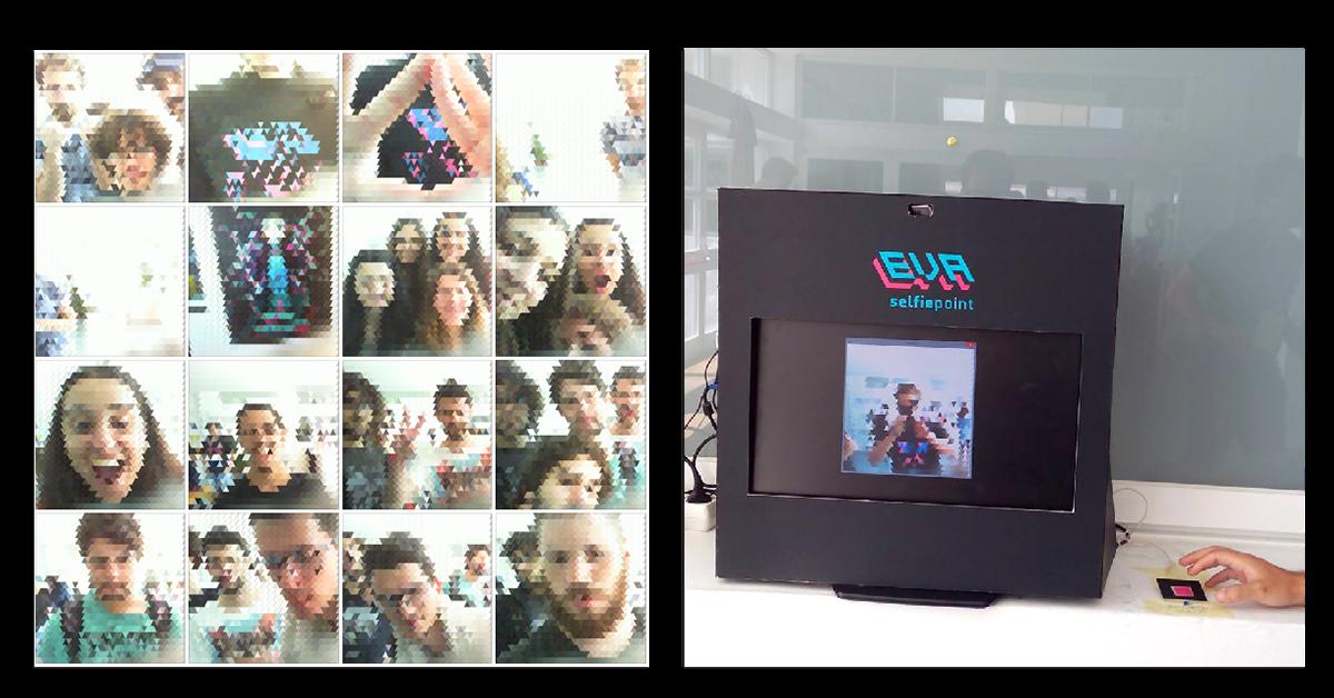 processing Arduino trixel selfie