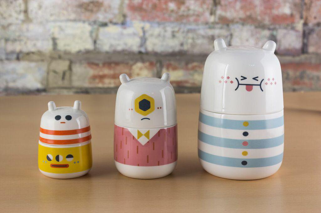 Loulou & Tummie Camila Prada Storage Jar Character design  cute storage product design  Print on product