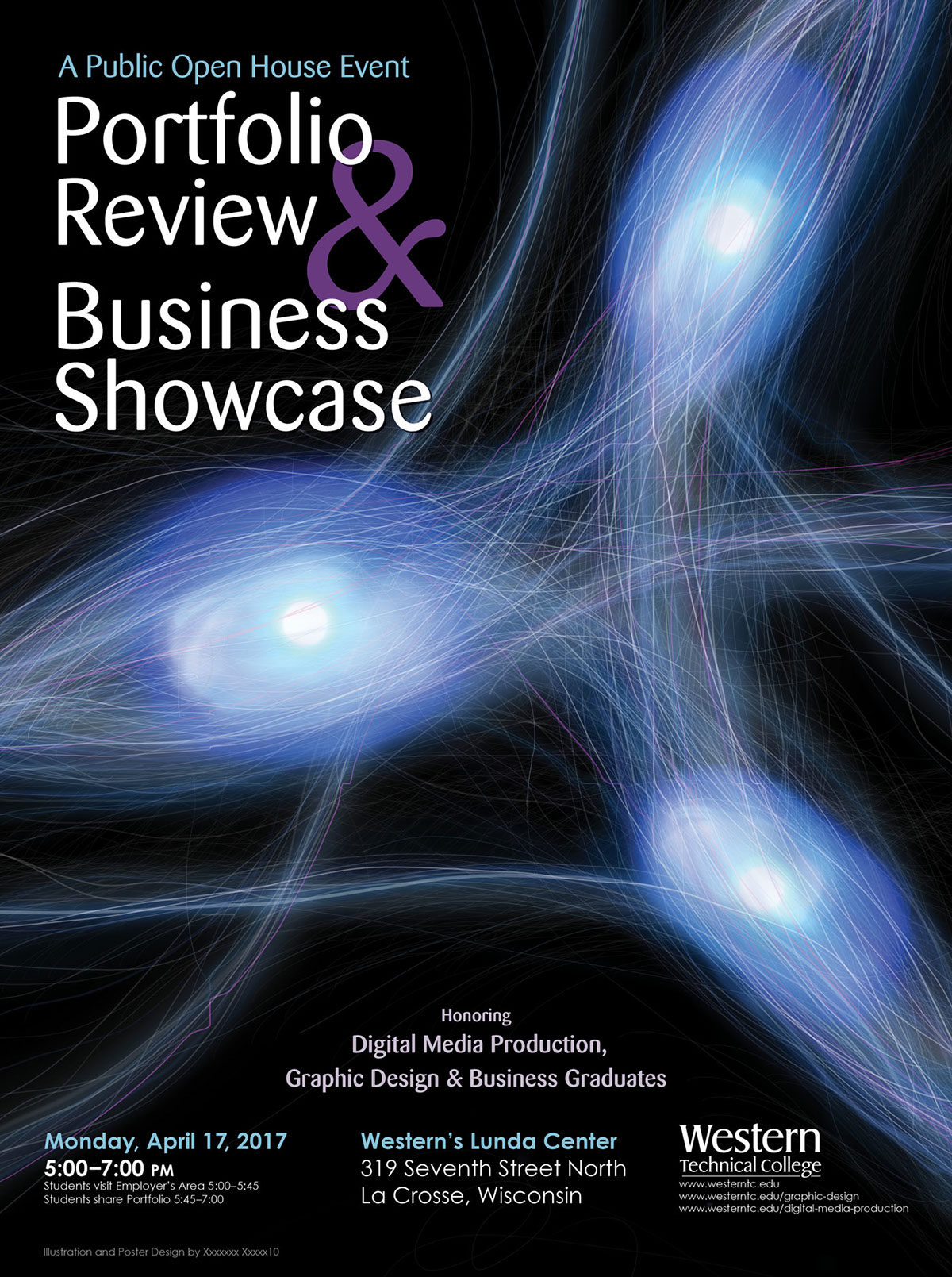 Posters on behance the portfolio and business review poster objective was to invite employers and the community to the event i chose to use the imagery of synapses to reflect thecheapjerseys Choice Image