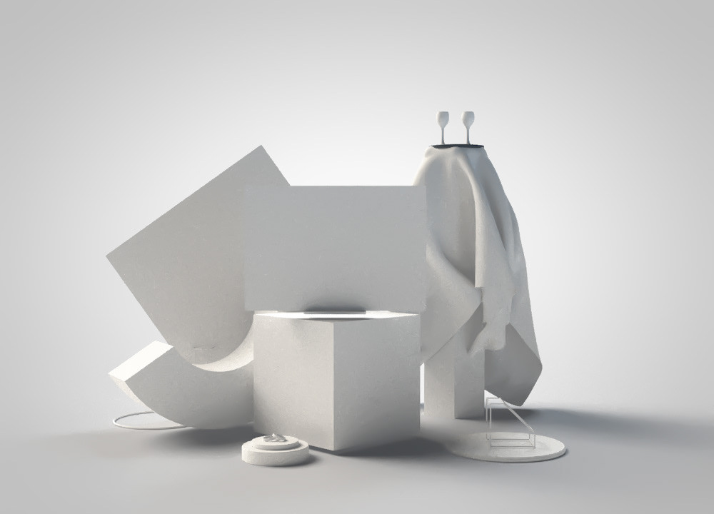 Abstract Furniture | Cinema 4D Render on Student Show
