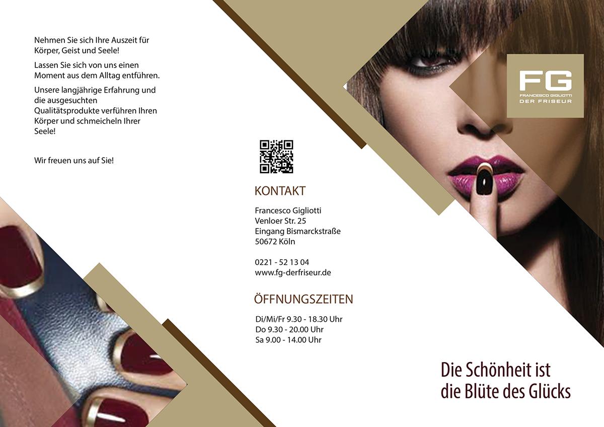 fg beauty salon flyer on behance
