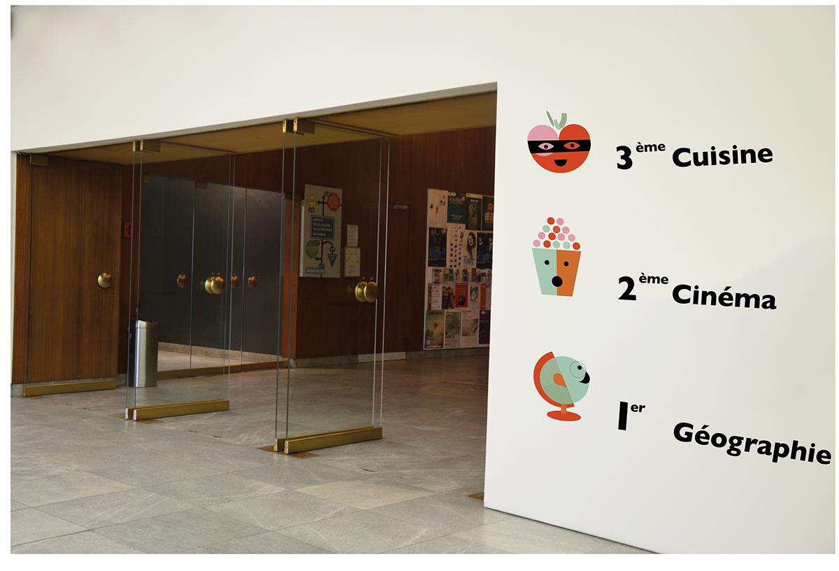 signalétique musée enfants flat design signaletic children museum