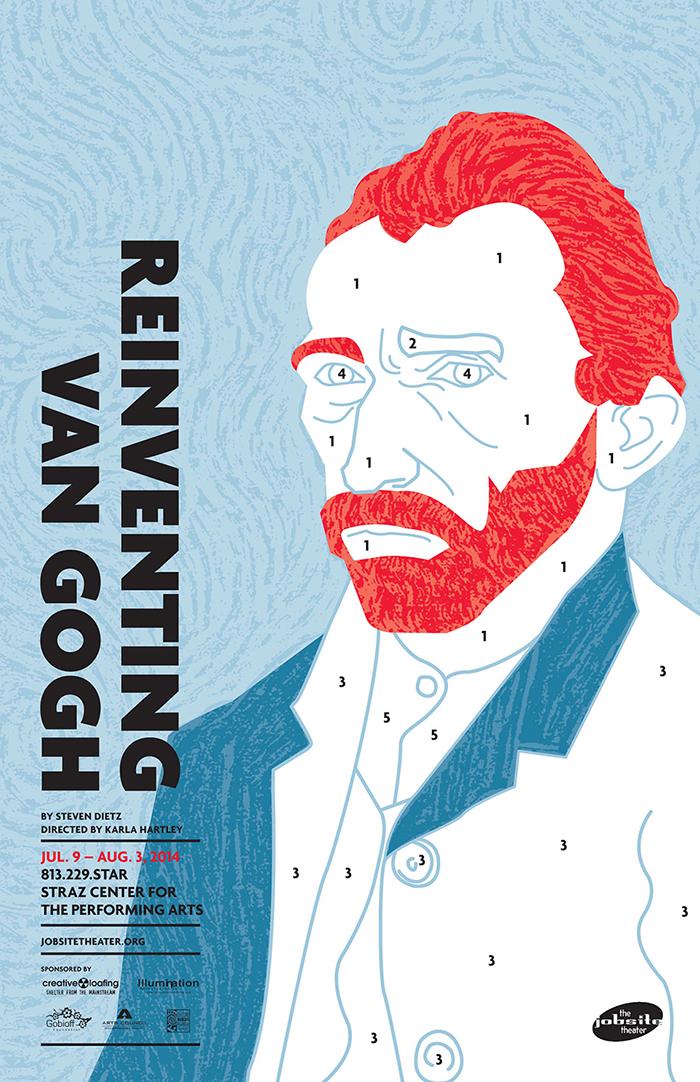 Reinventing Van Gogh poster on Behance