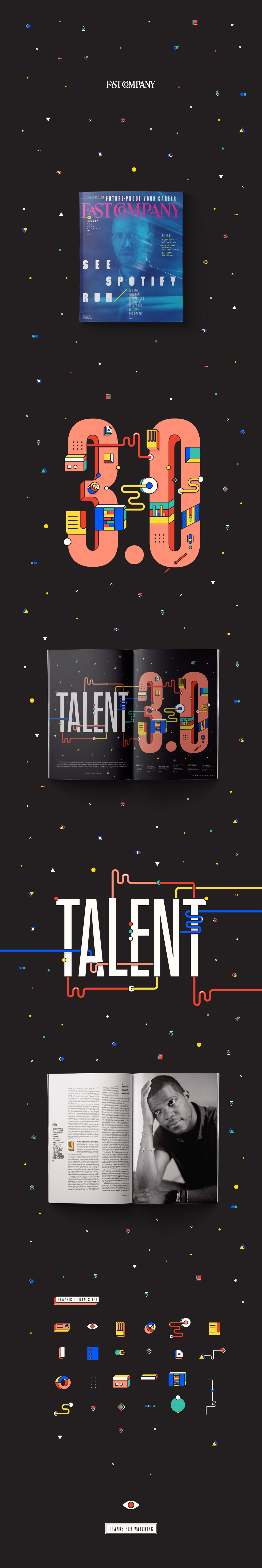 fast company ILLUSTRATION  typography   editorial lettering magazine Freelance mexico supermagicfriends