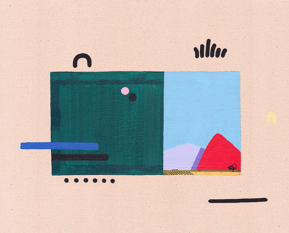 abstract bold color design minimal modern Street Art  surreal