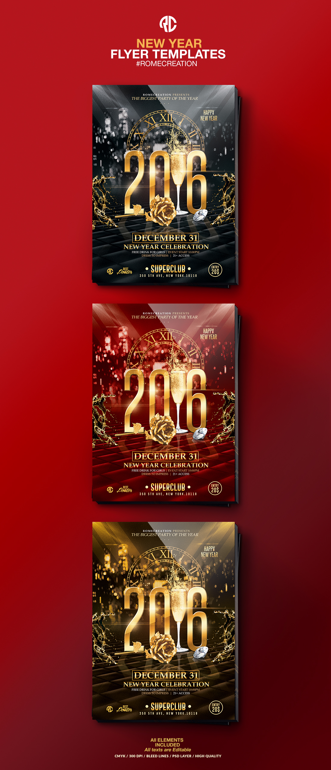 New Year Event 2016 – New Year Poster Template