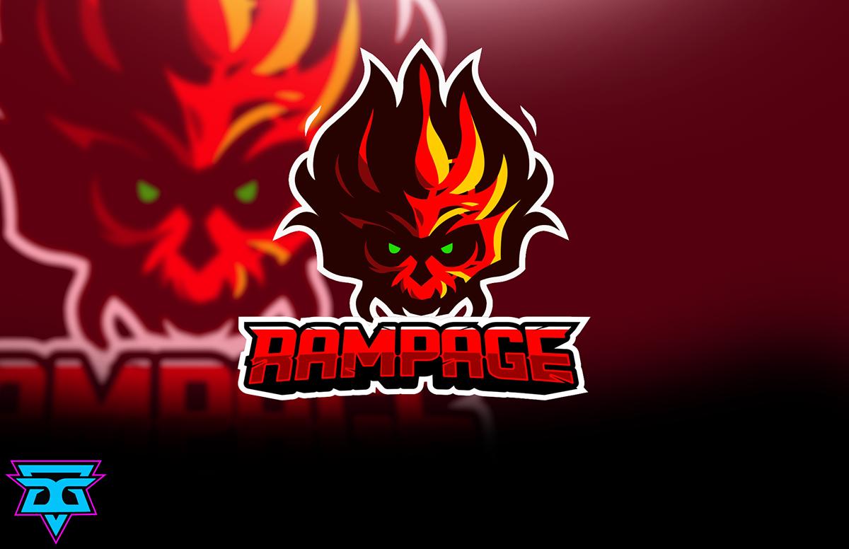 Rampage Free Esport Mascot Logo On Corcoran Portfolios