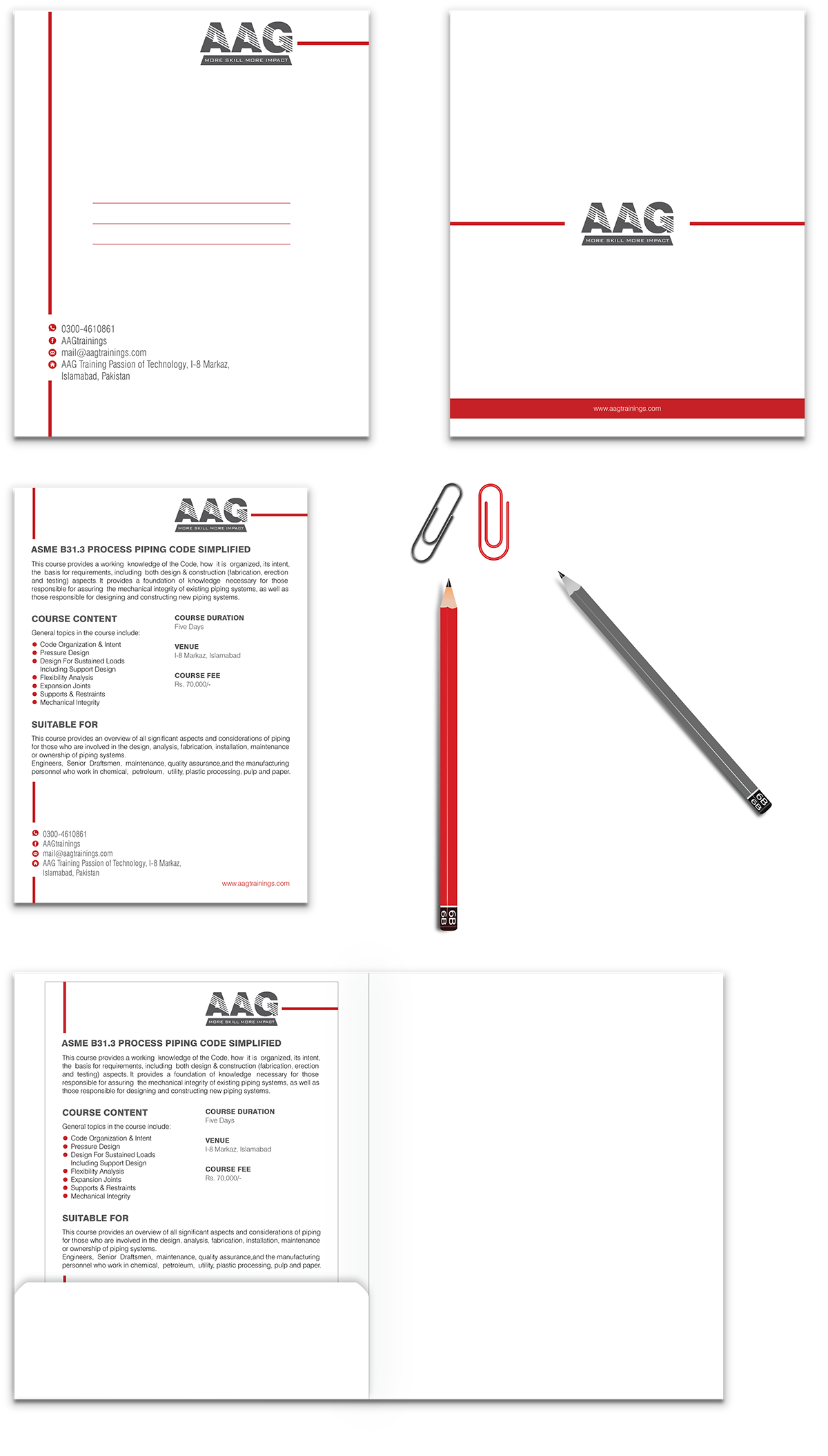 business card logo jacket flyer letterhead envelope