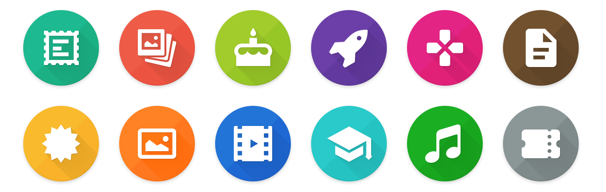 Intranet icons feed social network Web Design  Responsive