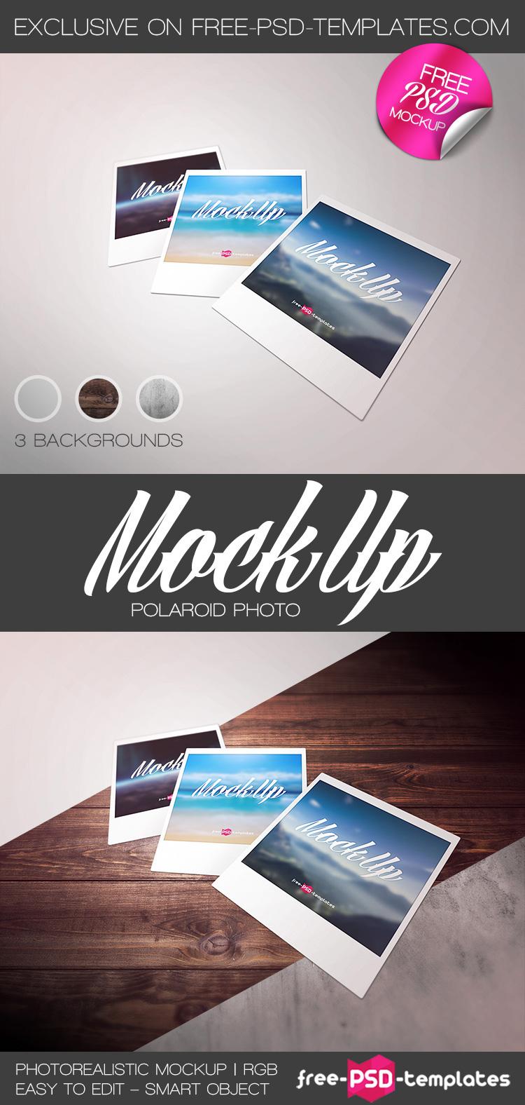 free polaroid photo mock up in psd on behance