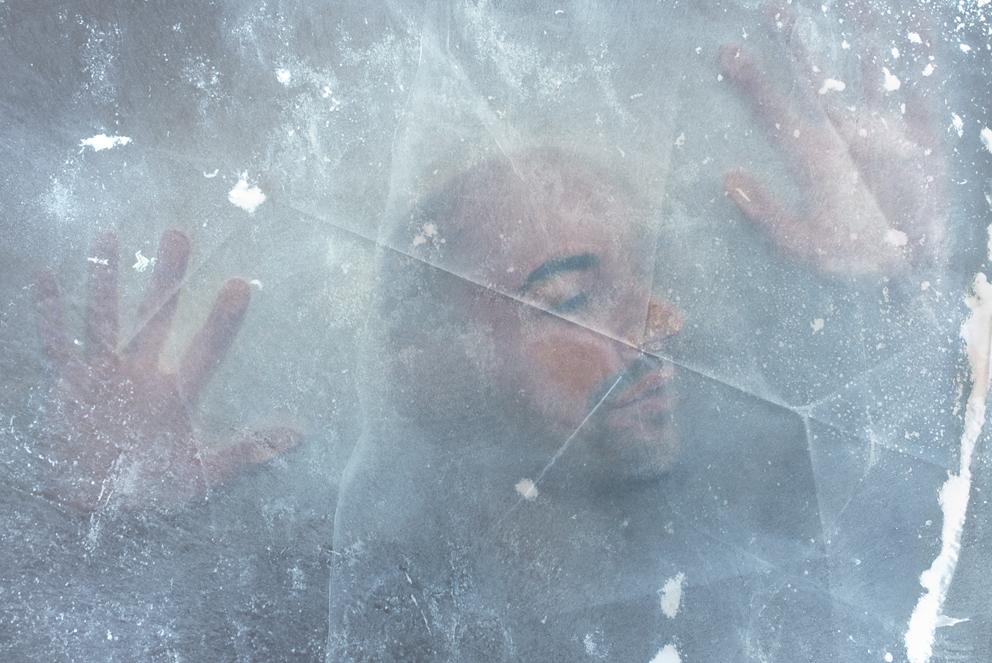ice glace portrait frozen
