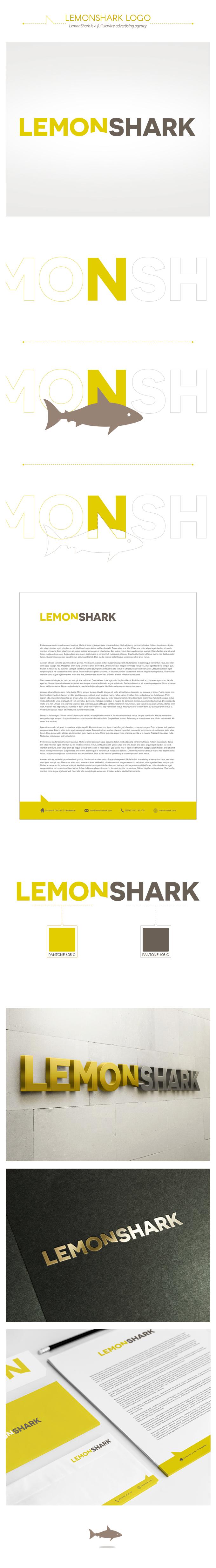 lemon shark logo brand identitiy agency