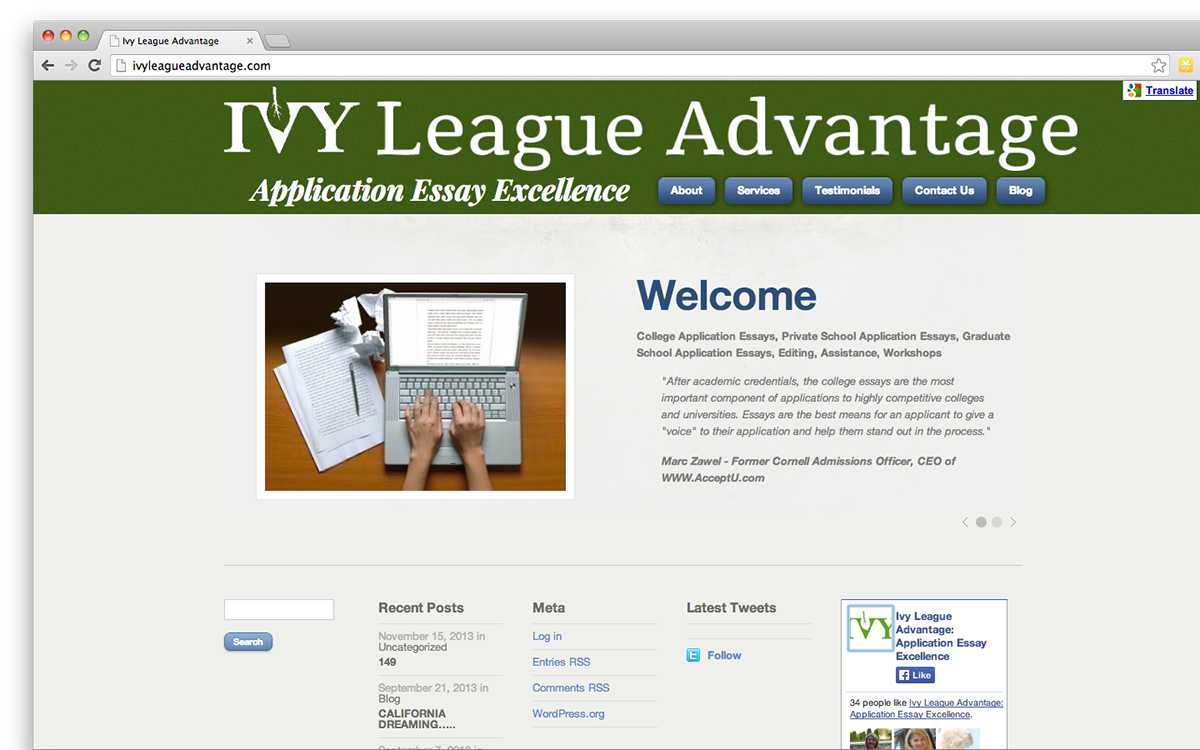 ivy league advantage logo on behance thank you