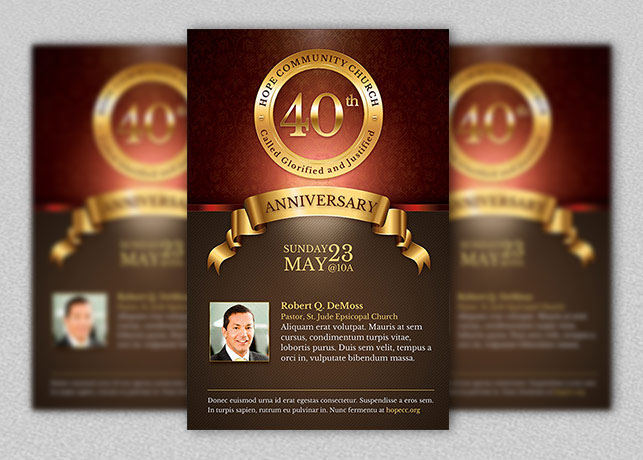 church anniversary flyer and poster template on behance. Black Bedroom Furniture Sets. Home Design Ideas