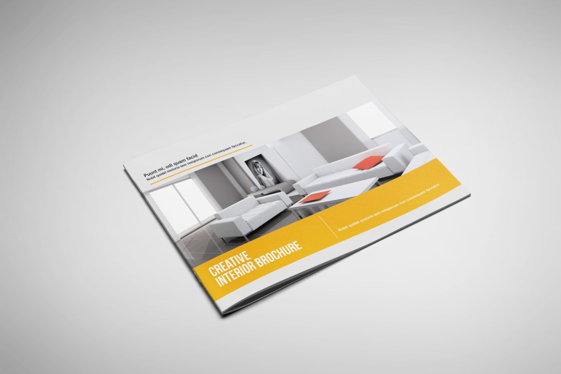 Interior Landscape Brochure Template On Behance - Landscape brochure template