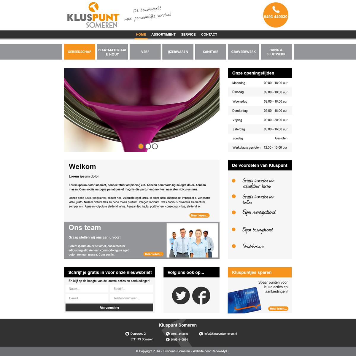 Website Kluspunt internship renewmyid Web graphic design photoshop