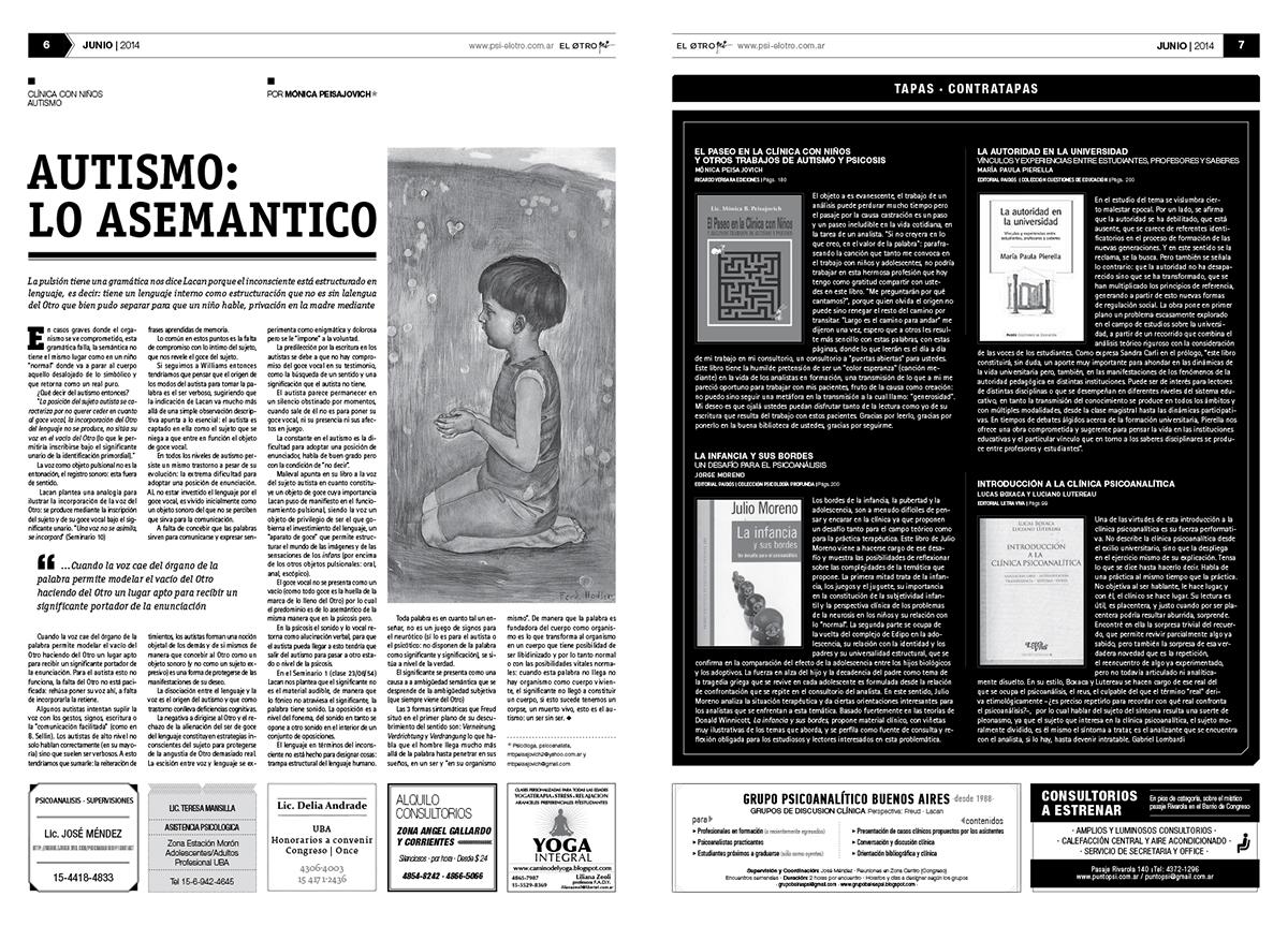 Psicoanalisis editorial periodico newspaper tabloide uba