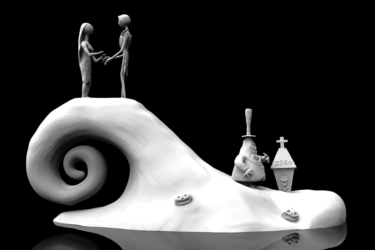 A Nightmare Before Christmas 3D Setting on Behance
