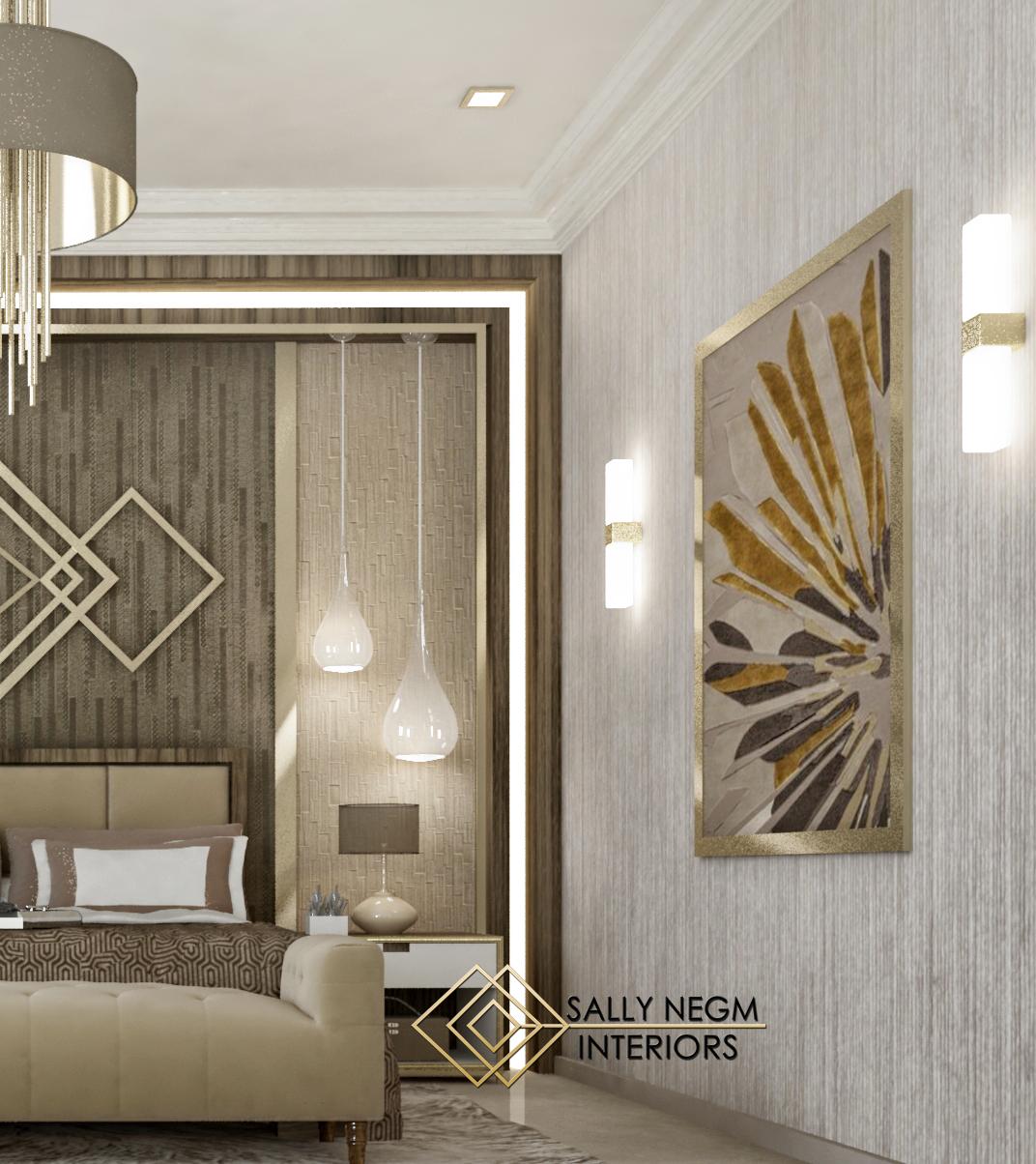 Luxury Master Bedroom Dubai On Behance: Modern Master Bedroom Interior Design #modern #luxury On