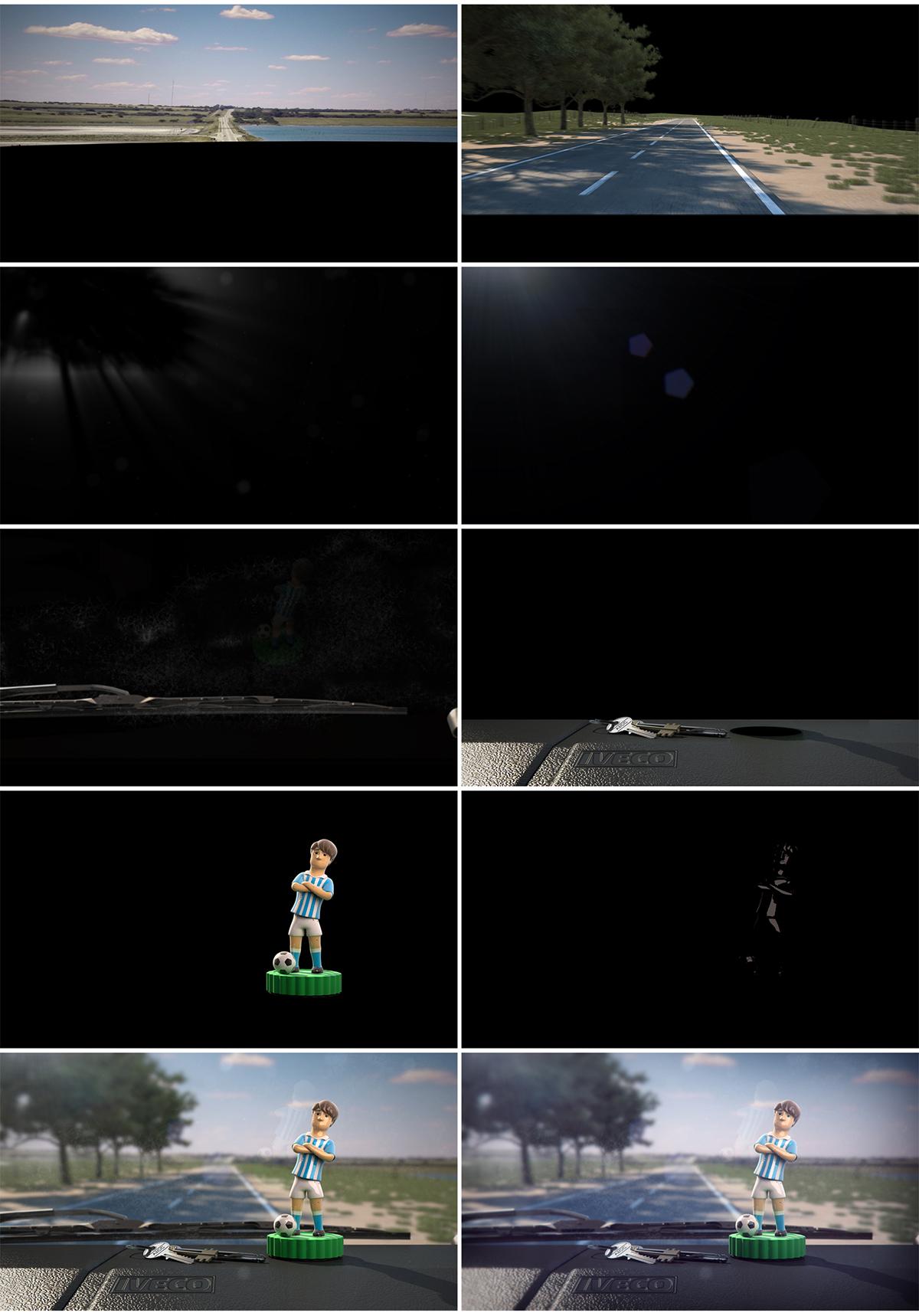 futbo IVECO river boca Racing san lorenzo independiente Ruta animation  3D