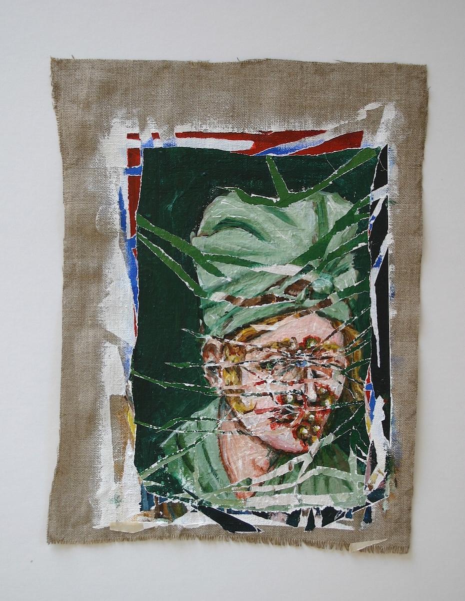 acrylic linen canvas Portraiture portraits people faces Disease death medical history dark acrylic painting medicine Leprosy syphilis
