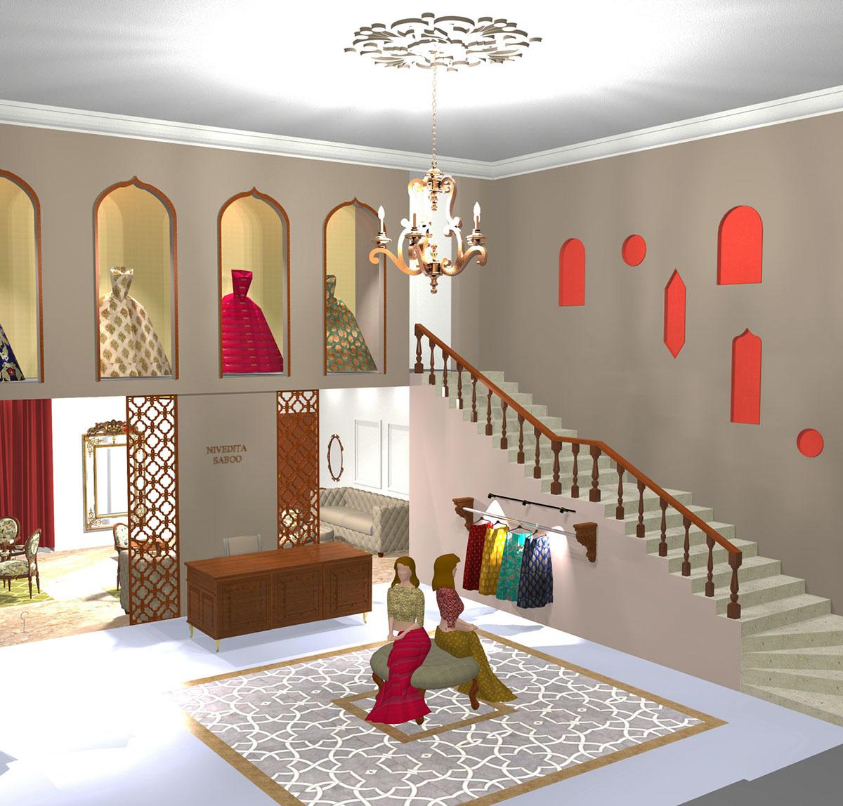 Nivedita Saboo Bridal Boutique Design On Behance