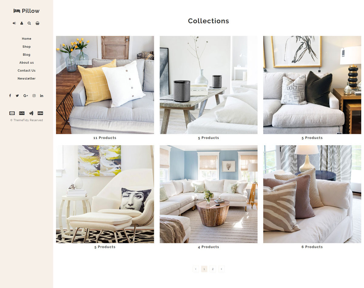 Live Demo Link: Http://www.themetidy.com/item/pillow Home Decor Interiors  Shop Responsive Shopify Theme/live Demo