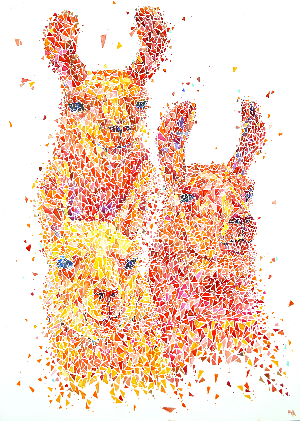 colorful dotted animals 2 on behance