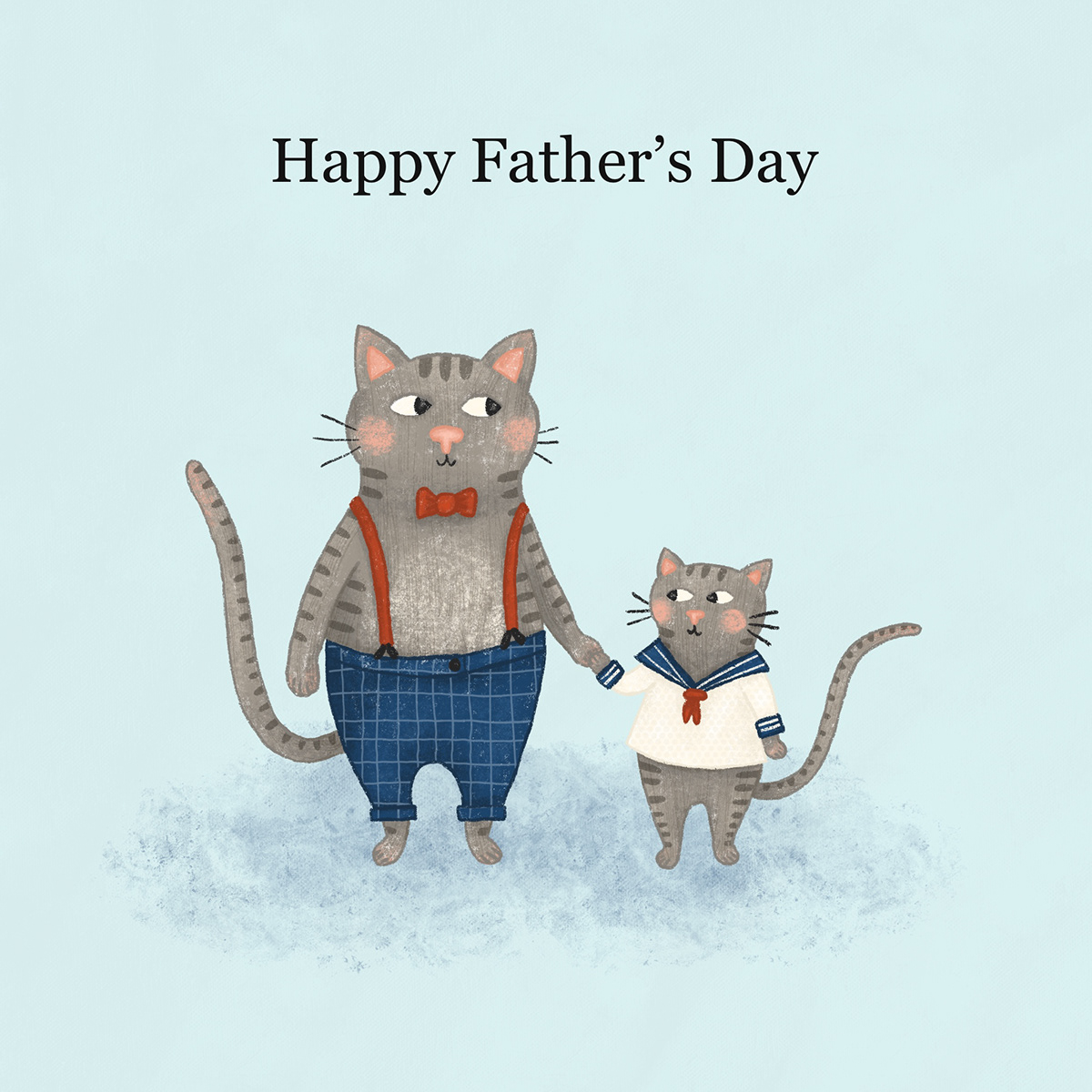 animals card design cats cute cute animals Fathers Day ILLUSTRATION  vintage
